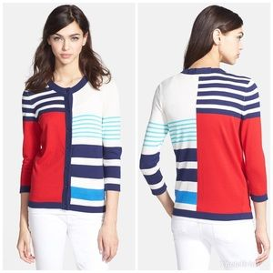 Kate Spade Ollie Stripe Cardigan Sweater